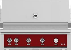 Brand: Hestan, Model: GSBR42LPGR, Color: Liquid Propane, Tin Roof Burgundy
