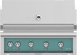 Brand: Hestan, Model: GSBR42LPGR, Color: Natural Gas, Bora Bora Turquoise