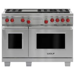 Brand: Wolf, Model: DF486GLP, Fuel Type: Stainless Steel, Natural Gas