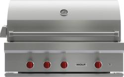 Brand: Wolf, Model: OG42LP, Fuel Type: Stainless Steel, Natural Gas