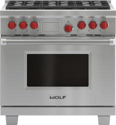 Brand: Wolf, Model: DF366LP, Fuel Type: Stainless Steel, Liquid Propane