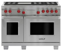 Brand: Wolf, Model: DF486GLP, Fuel Type: Stainless Steel, Liquid Propane