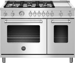 Brand: Bertazzoni, Model: MAST486GGASBIE, Color: Stainless Steel, Natural Gas