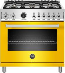 Brand: Bertazzoni, Model: PROF366DFSGITLP, Color: Giallo Yellow