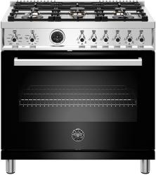 Brand: Bertazzoni, Model: PROF366DFSGITLP, Color: Nero Black