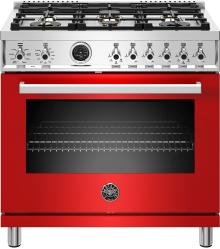 Brand: Bertazzoni, Model: PROF366DFSGITLP, Color: Rosso Red