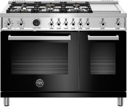 Brand: Bertazzoni, Model: PROF486GDFSNET, Color: Nero Black