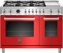 Brand: Bertazzoni, Model: PROF486GDFSNET, Color: Rosso Red