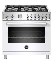 Brand: Bertazzoni, Model: PROF366GASXTLP, Color: Bianco White