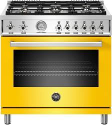 Brand: Bertazzoni, Model: PROF366GASXTLP, Color: Giallo Yellow