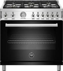 Brand: Bertazzoni, Model: PROF366GASXTLP, Color: Nero Black