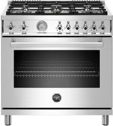 Brand: Bertazzoni, Model: PROF366GASROT, Color: Stainless Steel, Liquid Propane