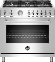 Brand: Bertazzoni, Model: PROF366GASROTLP, Color: Stainless Steel, Natural Gas