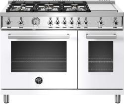 Brand: Bertazzoni, Model: PROF486GGASBIT, Color: Bianco, Natural Gas