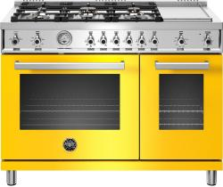 Brand: Bertazzoni, Model: PROF486GGASBIT, Color: Giallo, Natural Gas