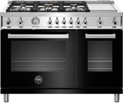 Brand: Bertazzoni, Model: PROF486GGASBIT, Color: Nero, Natural Gas
