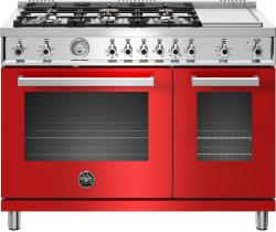 Brand: Bertazzoni, Model: PROF486GGASBIT, Color: Rosso, Natural Gas