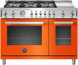 Brand: Bertazzoni, Model: PROF486GGASBIT, Color: Arancio, Natural Gas