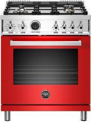 Brand: Bertazzoni, Model: PROF304DFSART, Color: Rosso Red