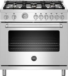 Brand: Bertazzoni, Model: MAST366GASXTLP, Color: Stainless Steel, Liquid Propane