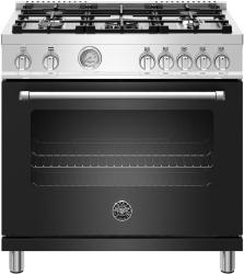 Brand: Bertazzoni, Model: MAST365GASXE, Color: Matte Black, Natural Gas