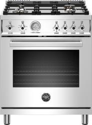 Brand: Bertazzoni, Model: PROF304GASROT, Color: Stainless Steel, Liquid Propane