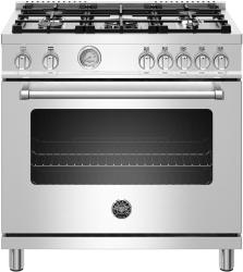Brand: Bertazzoni, Model: MAST365GASXE, Color: Stainless Steel, Liquid Propane