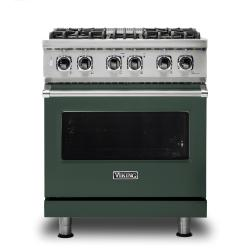 Brand: Viking, Model: VDR5304BGGLP, Color: Blackforest Green, Natural Gas
