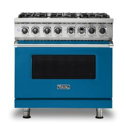 Brand: Viking, Model: VDR5366BBK, Color: Alluvial Blue, Natural Gas