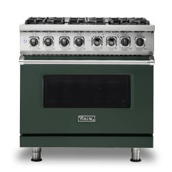 Brand: Viking, Model: VDR5366BBK, Color: Blackforest Green, Natural Gas