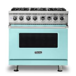 Brand: Viking, Model: VDR5366BBK, Color: Bywater Blue, Liquid Propane