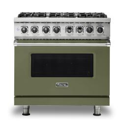 Brand: Viking, Model: VDR5366BBK, Color: Cypress Green, Liquid Propane