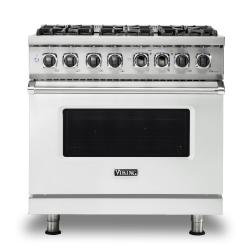 Brand: Viking, Model: VDR5366BBK, Color: Frost White, Natural Gas