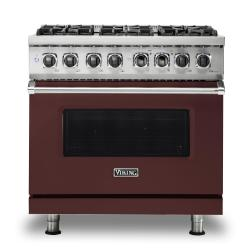 Brand: Viking, Model: VDR5366BBK, Color: Kalamata Red, Liquid Propane