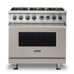 Brand: Viking, Model: VDR5366BBK, Color: Pacific Grey, Natural Gas