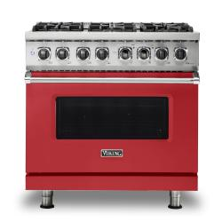Brand: Viking, Model: VDR5366BBK, Color: San Marzano Red, Liquid Propane
