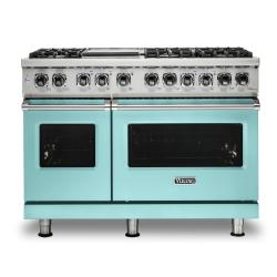 Brand: Viking, Model: VDR5486GDG, Color: Bywater Blue, Liquid Propane