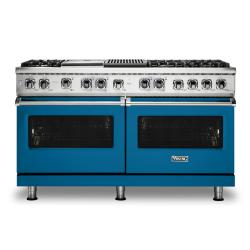 Brand: Viking, Model: VDR5606GQSBLP, Color: Alluvial Blue, Liquid Propane