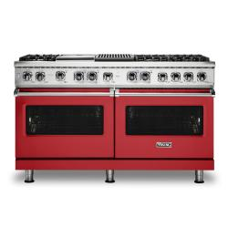 Brand: Viking, Model: VDR5606GQSBLP, Color: San Marzano Red, Natural Gas