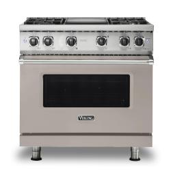 Brand: Viking, Model: VGR5364GSSLP, Color: Pacific Grey, Natural Gas