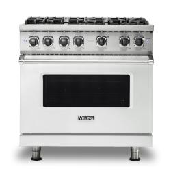 Brand: Viking, Model: VGR5366BSS, Color: Frost White, Natural Gas