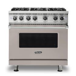 Brand: Viking, Model: VGR5366BSS, Color: Pacific Grey, Natural Gas