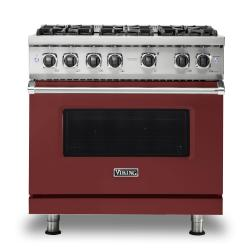 Brand: Viking, Model: VGR5366BSS, Color: Reduction Red, Liquid Propane