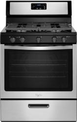Brand: Whirlpool, Model: WFG505M0BW, Color: Black On Stainless Steel