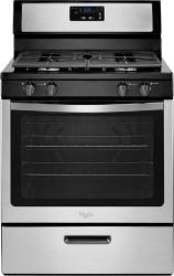 Brand: Whirlpool, Model: WFG320M0BS, Color: Black on Stainless Steel