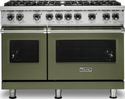 Brand: Viking, Model: VGR5488BGGLP, Color: Cypress Green, Liquid Propane