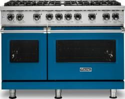 Brand: Viking, Model: VGR5488BGGLP, Color: Alluvial Blue, Liquid Propane