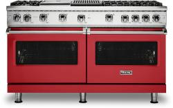 Brand: Viking, Model: VGR5606GQSSLP, Color: San Marzano Red with Liquid Propane