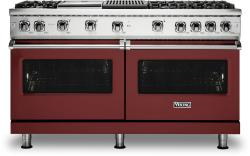 Brand: Viking, Model: VGR5606GQSSLP, Color: Reduction Red with Liquid Propane