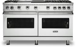 Brand: Viking, Model: VGR5606GQBULP, Color: Frost White with Liquid Propane